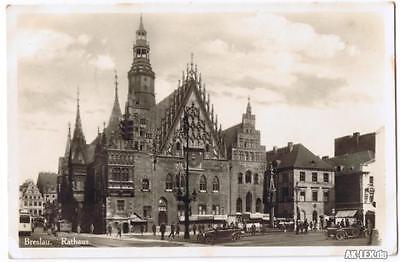 Breslau Karte 1930.Breslau Rathaus Wroclaw Foto Ansichtskarte Niederschlesien Ca 1930