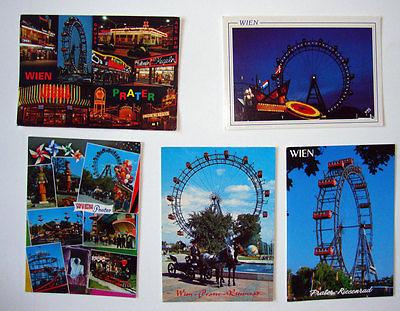 5 Ansichtskarten Wiener Prater