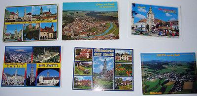 5 Karten Zwettl Waldviertel, 1xZwettl/Rodl Ansichtskarten Lot