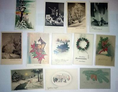 11 Weihnachtskarten/Neujahrskarten Glückwunsch 2 Präge,  Sammlung, ab 1915