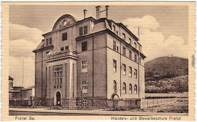 Ansichtskarte Freital Handels- und Gewerbeschule 1924