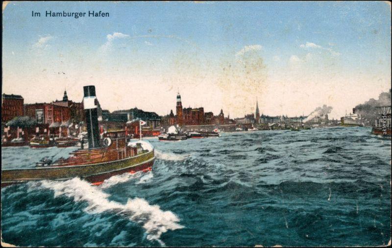 Ansichtskarte Hamburg im Hafen 1928