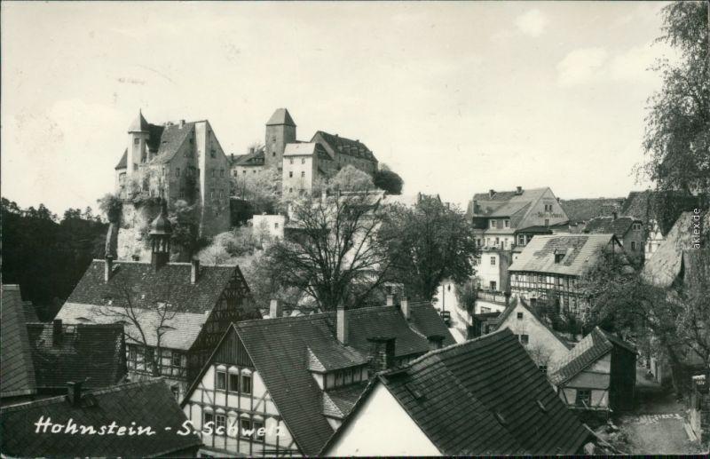 Ansichtskarte Hohnstein (Sächs. Schweiz) Burg Hohnstein 1964