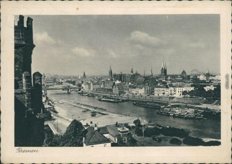 Ansichtskarte Bremen Blick auf die Stadt 1940