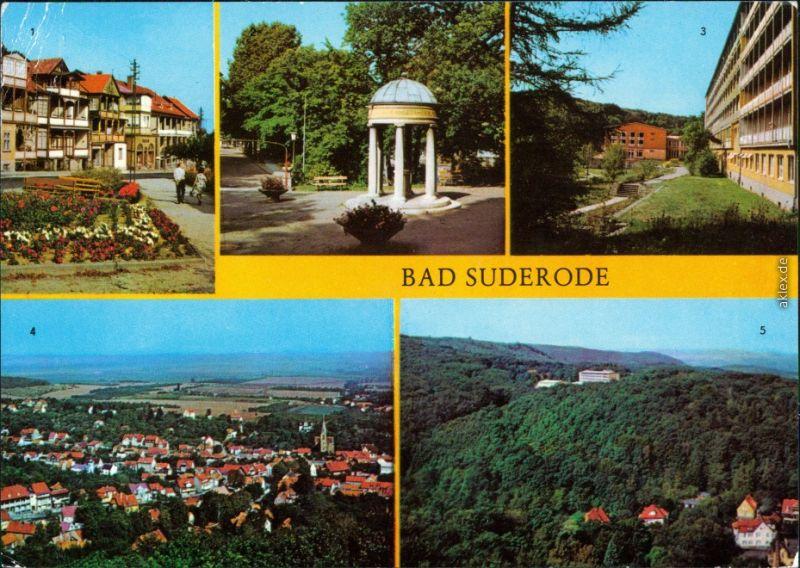 Bad Suderode Rathausplatz Behringer-Brunnen Sanatorium Willi Agatz g1982