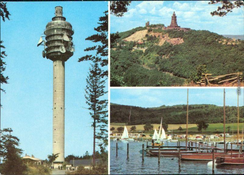 Kelbra (Kyffhäuser) Fernsehturm Kulpenberg, Kaiser-Friedrich-Wilhelm/Barbarossa-Denkmal, Talsperre 1978