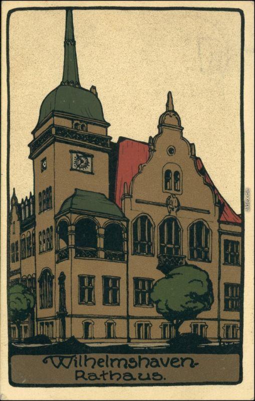altes Rathaus Künstlerkarte - Steindruck