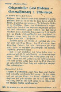 Chemnitzer Zeitung - Kriegsminister Lord Kitchner - Propaganda 1915