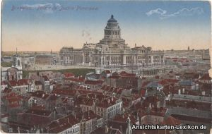 Postkaart Brüssel Bruxelles Palais de Justice Panorama/Justizpalast 1916