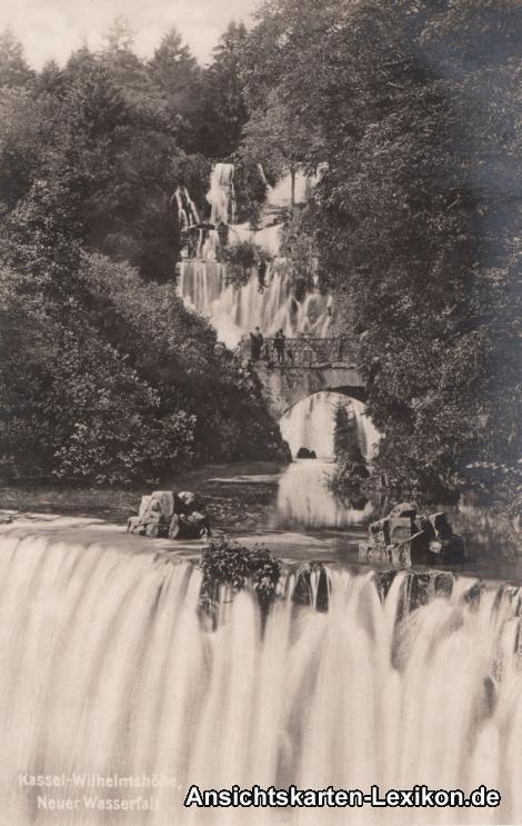 Bad Wilhelmshöhe-Kassel Cassel Wilhelmshöhe - Neuer Wasserfall 1928