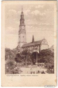 Tschenstochau Kirche (Ogolny widok klasztoru) ca 1925