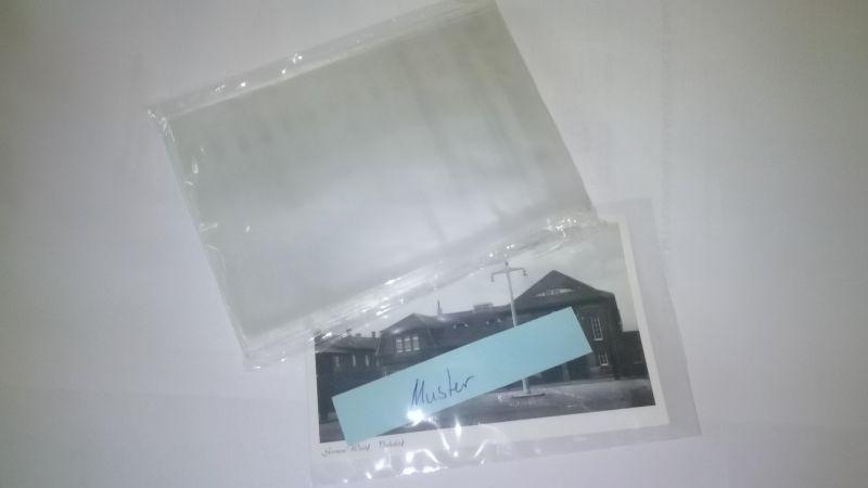 Ansichtskartenhüllen, 100 Stück für alte kleine Postkarten dünn 100x150x0,04 mm