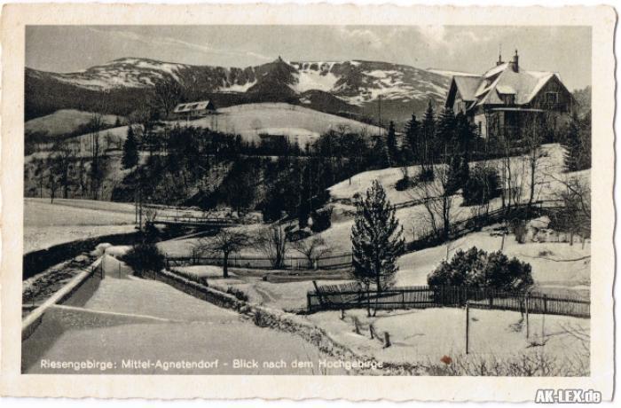 Agnetendorf Hirschberg Panorama gel.1928