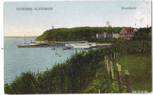 Glücksburg (Ostsee) Strandhotel ca. 1918