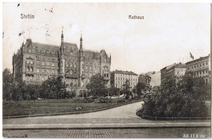 Stettin Rathaus gel. 1912