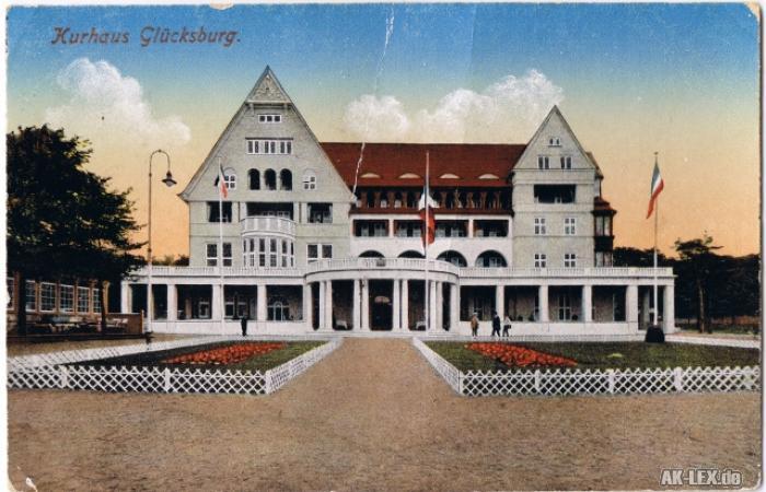 Glücksburg (Ostsee) Kurhaus ca. 1918