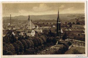 Ostritz (Oberlausitz) Panorama - Ansicht gel. 1929