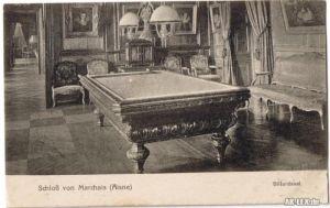 Marchais (Aisne) Schloß - Billardsaal ca 1916