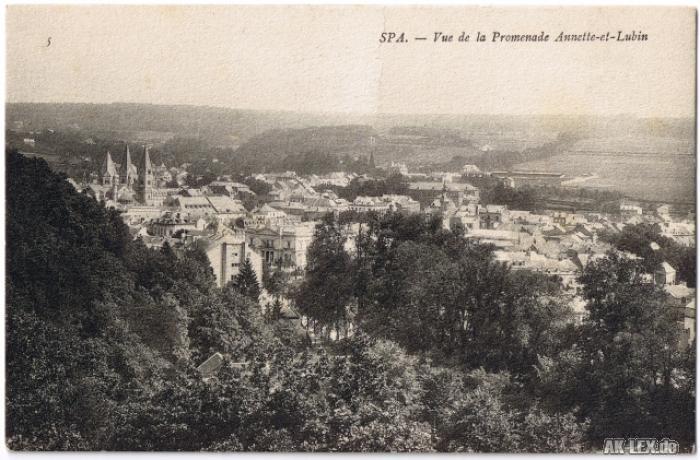 Spa (Stadt) Vue de la Promenade Anette-et-Lubin ca. 1920