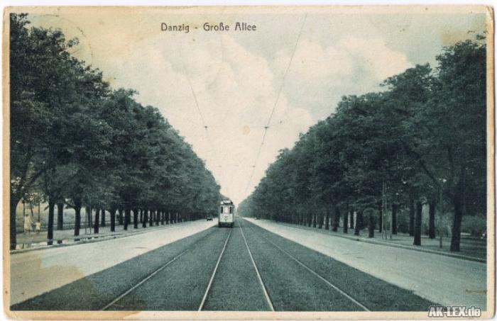 Danzig Große Allee ca. 1920