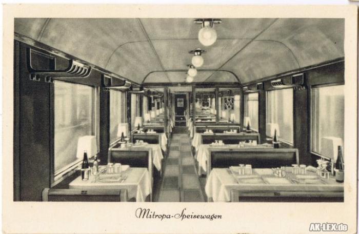 Mitropa-Speisewagen (Innenansicht) ca. 1930