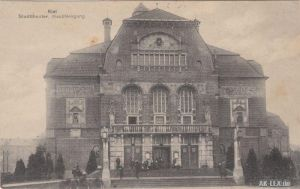 Kiel Stadttheater, Haupteingang  gel. 1916