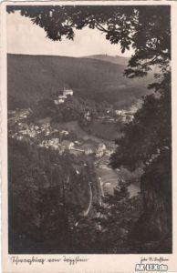 Schwarzburg Schwarzburg vom Trippstein, gel. 1938 (Schwa