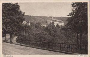 Ansichtskarte Schwarzburg Schloß Schwarzburg - von der T