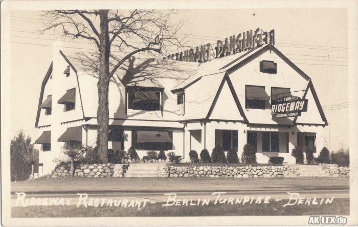 Foto Postcard Berlin (Connecticut) Ridgeway Restaurant a
