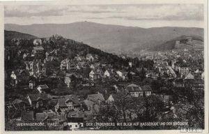 Wernigerode Der Lindenberg mit Blick auf Hasserode und d