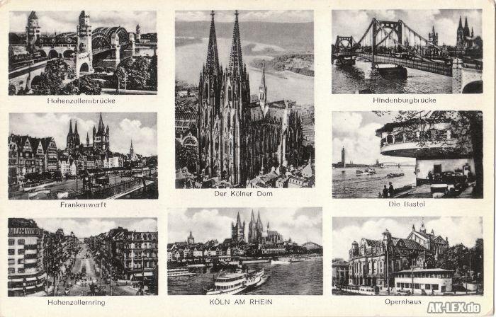 Köln Mehrbildkarte