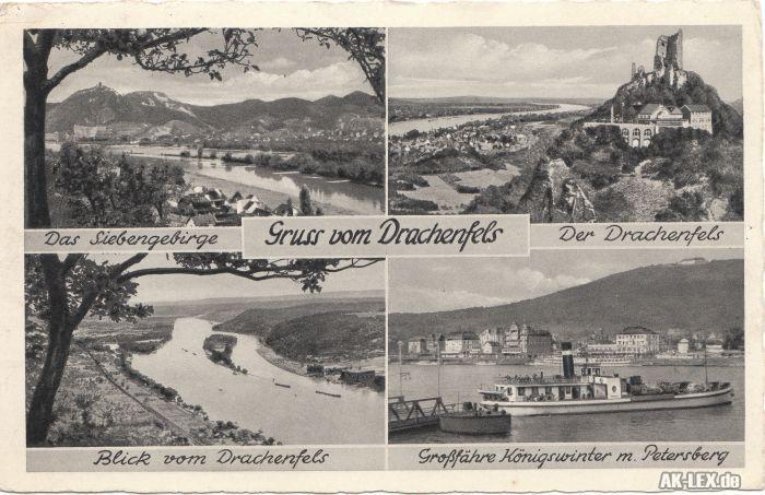 Königswinter Mehrbildkarte - Drachenfels