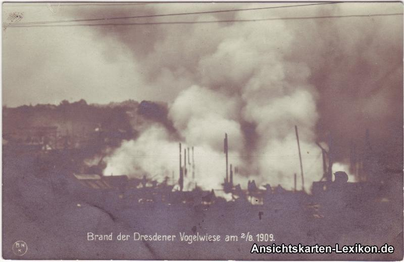 0 Brand der Dresdener Vogelwiese am 02.08.1909