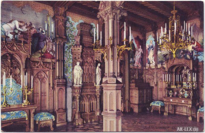Schwangau Kgl. Schloß Neuschwanstein-Schlafzimmer II