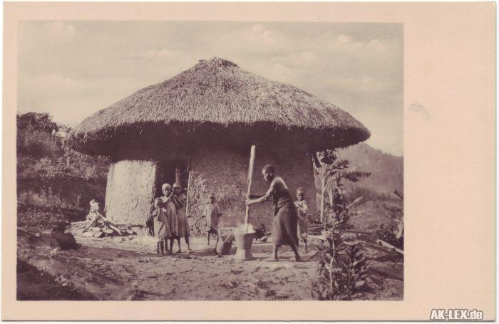 Eine typische Pare-Hütte (Ost-Afrika)