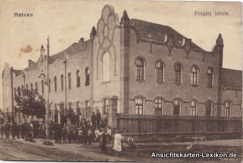 Postcard Ansichtskarte Hatvan Polgarj iskola - Heves b B