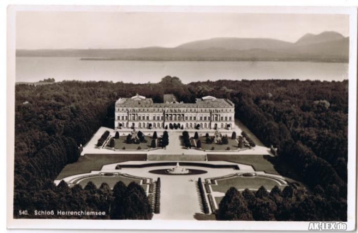 Chiemsee Schloß Herrenchiemsee - Foto AK