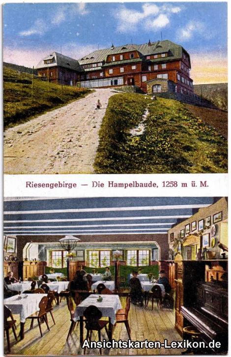 Brückenberg Hampelbaude 2 Bild Innen und Außen
