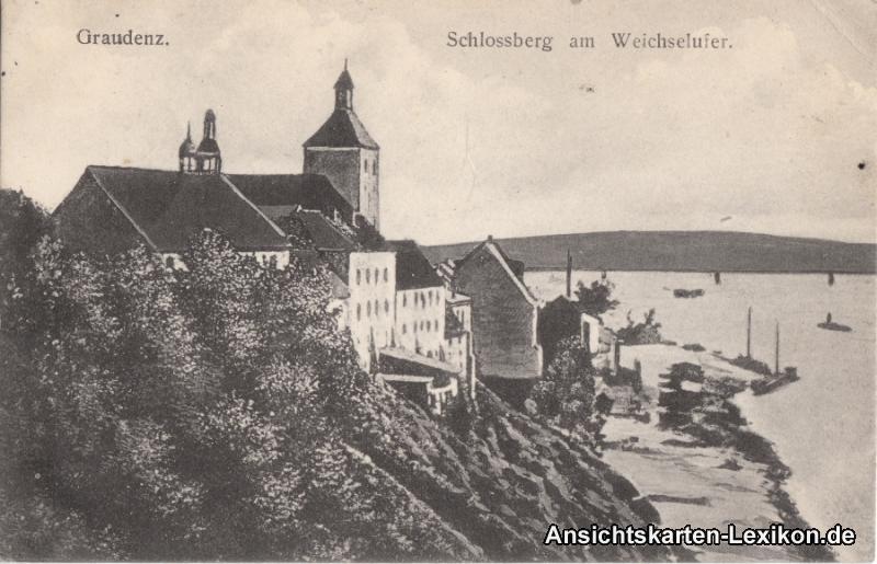 Graudenz Schloßberg am Weichselufer