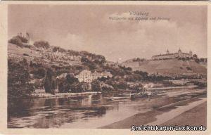 Würzburg Mainpartie mit Käppele und Festung
