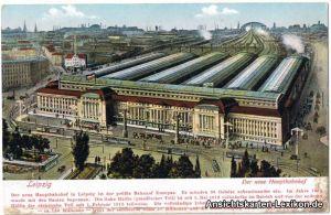 Leipzig Der neue Hauptbahnhof - aus der Vogelschau