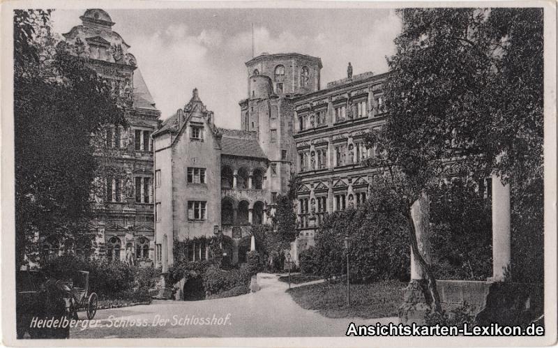 Heidelberg Der Schlosshof - Heidelberger Schloss