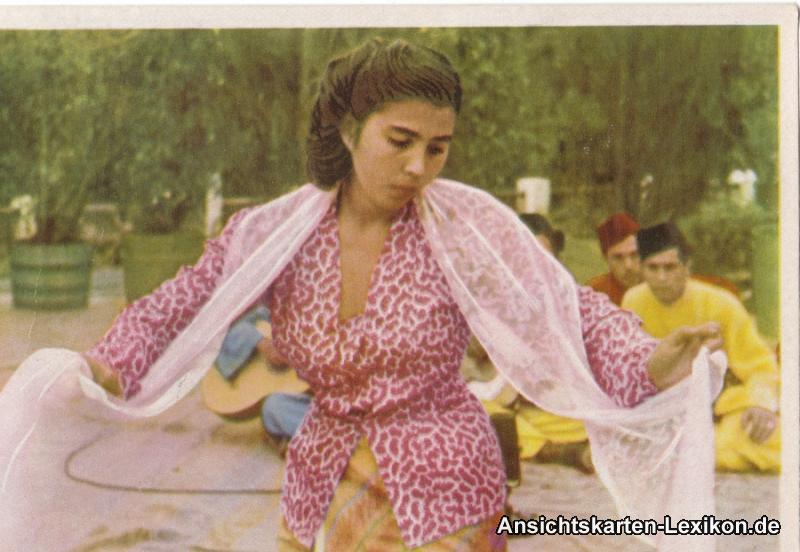 Berlin Indonesische Tänzerin - Weltjugenspiele 1971