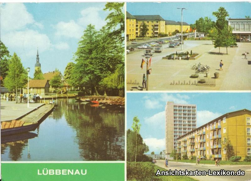 Lübbenau 3 Bild - Straße der Jugend - Roter Platz