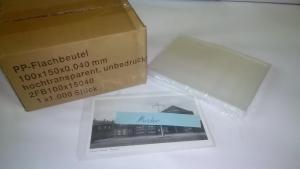 Ansichtskartenhüllen, 1000 Stück für alte kleine Postkarten dünn 100x150x0,04mm