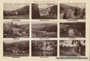 Eisenberg (Thüringen) Mehrbild AK Eisenberger Mühltal -