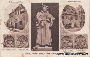 Eisleben Mehrbild AK Lutherstadt - Denkmal, Geburts- und