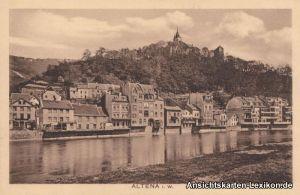 Altena Partie am Fluß Ansichtskarte Westfalen Lippe b Lüdenscheid 1922