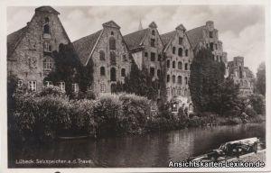 Lübeck Salzspeicher an der Trave - Foto AK