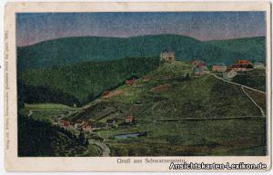 Schwarzenstein: Schwarzenbach am Wald, Gruß aus... - Lunakarte